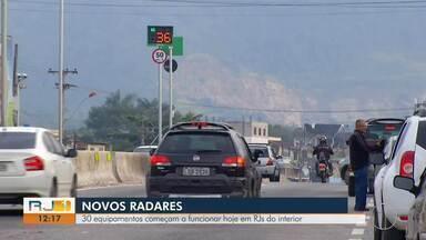 30 radares começam a funcionar hoje em rodovias estaduais do interior do RIo - Instalação foi feita pelo DER.