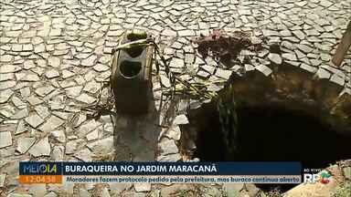 Moradores de Ponta Grossa enviam fotos de ruas em más condições - Secretário de Serviço Públicos, Márcio Ferreira, disse que vai analisar imagens.