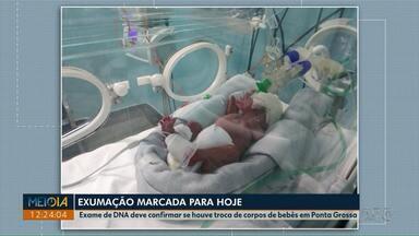 Exame de DNA deve confirmar se houve troca de corpos de bebês em Ponta Grossa - Exumação está marcada para as 14h desta sexta-feira (24).