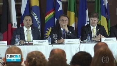 Bolsonaro anuncia verbas para Nordeste e pede ajuda para aprovar Reforma da Previdência - Presidente participou de reunião da Sudene, nesta sexta-feira (24), no Recife
