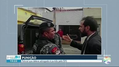 SDS pune policial militar responsável pela prisão ilegal de advogado em Caruaru - Caso ocorreu em 5 de julho de 2018, quando um grupo de policiais militares prenderam ilegalmente o advogado Sávio.