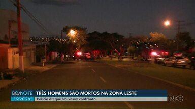 Três homens morrem na zona leste de Londrina - Polícia informou que eles teriam reagido a uma abordagem policial e houve confronto.