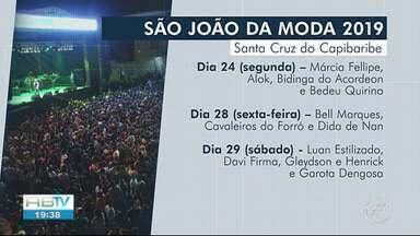 São João 2019 de Santa Cruz do Capibaribe é lançado - Algumas atrações já foram divulgadas.