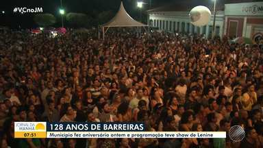 Lenine faz show em comemoração aos 128 anos da cidade de Barreiras - Veja os destaques do evento.