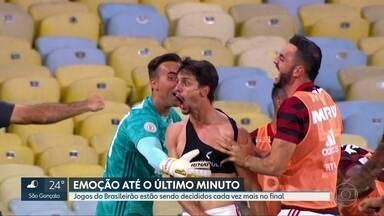 Emoção sem hora para acabar - Jogos do brasileirão estão sendo decididos nos acréscimos e provocando fortes emoções, positiva e negativas, nos torcedores.