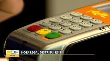 GDF sorteou R$3 milhões em prêmios para cadastrados no Nota Legal - Prêmio de R$500 mil saiu para morador de São Sebastião.