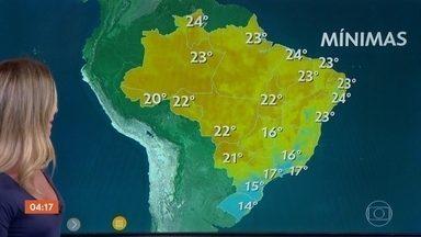 Frente fria provoca chuva em SP nesta quarta-feira (29) - A previsão também é de chuva em no Sul e no Norte do país.