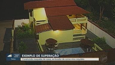 EPTV 40 anos mostra história de ex-lavador de carros que virou arquiteto - Veja a história de superação do seu José, morador de Batatais (SP).