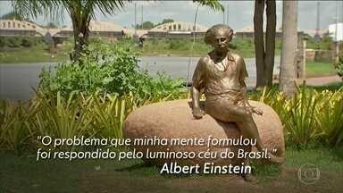 Cidade brasileira lembra 100 anos de eclipse que ajudou a comprovar Teoria da Relatividade - Pesquisadores estrangeiros estiveram em Sobral (CE) para acompanhar o eclipse que encobriu totalmente o Sol.