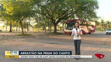 Criminosos fazem arrastão na Praia do Canto, em Vitória - Ao menos quatro pessoas foram vítimas dos suspeitos.