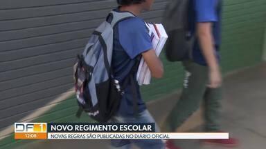 Novo regimento das escolas públicas é publicado no Diário Oficial do DF - Regras passarão a valer a partir do segundo semestre de 2019.