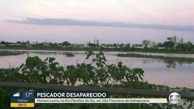 Pescador desaparece no rio Paraíba do Sul, RJ - Buscas vão ser retomadas nesta segunda (03)