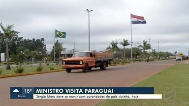Ministro Sérgio Moro deve se reunir com autoridades do Paraguai nesta segunda-feira - A previsão é que Sérgio Moro desembarque em Ponta Porã por volta do meio-dia. De lá, segue direto para o país vizinho.