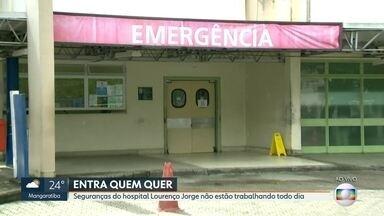 Pacientes do Hospital Lourenço Jorge, na Barra, temem assaltos por falta de segurança - Nesta terça (4), dos sete vigilantes que deveriam estar de plantão, só dois compareceram ao trabalho. Segundo informações dos seguranças, muitos não têm vindo por que nãot recebido salário.