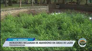 Moradores em Pinda reclamam de abandono de áreas de lazer - Veja situação dos lagos do Bosque da Princesa.