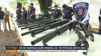 Guarda Municipal de Maringá solicita compra de mais 50 pistolas - Com reforço, arsenal de pistolas deve chegar a 100 unidades.