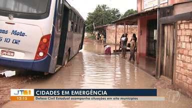 Defesa Civil acompanha situações emergenciais em oito municípios da região oeste - Os decretos de situação de emergências nas cidades foram por conta de alagamentos e estragos provocados por enxurradas.