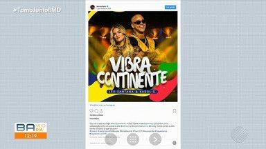Léo Santana lança música para a Copa América em parceria com cantora colombiana - Cantor apresentou a novidade para os fãs nas redes sociais.