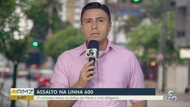 Ônibus da linha 600 é assaltado em Manaus - Ônibus da linha 600 é assaltado em Manaus
