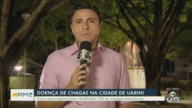 Suspeita de surto de Doença de Chagas em Uarini será investigada por equipes da FVS-AM - Cinco pessoas que apresentaram os sintomas da Doença de Chagas Aguda iniciaram tratamento
