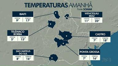 A previsão é de frio pra esta quarta-feira (05) - A massa de ar frio continua predominando sobre a nossa região. O sol predomina em boa parte do dia.