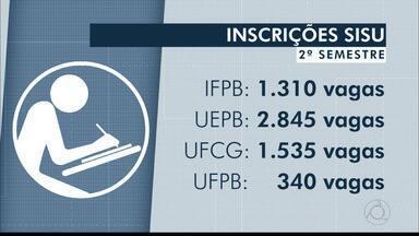 JPB2JP: Sisu 2019.2: inscrições de hoje até sexta com mais de 6 mil vagas na Paraíba - Inscrições em: www.sisu.mec.gov.br