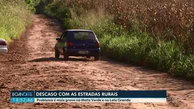 Descaso com estradas rurais em bairros de Foz do Iguaçu - Problema é mais grave na Mata Verde e no Lote Grande.