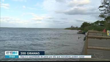 Pescadores não aprovam recomendação da Anvisa, que liberou consumo de peixes do Rio Doce - Litoral de Linhares foi uma das regiões mais afetadas pela lama.