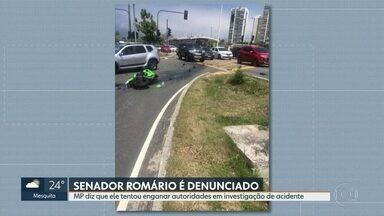 MPRJ denuncia senador e ex-jogador Romário - Ele é acusado de tentar enganar as autoridades durante a investigação do acidente que se envolveu em dezembro de 2017.