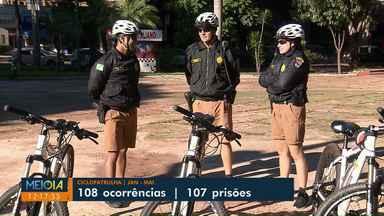 Em 5 meses, policiais de bicicleta realizaram mais de 100 prisões em Maringá - Patrulha é feita na região central da cidade.