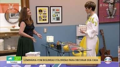Aprenda a fazer uma luminária com bolinhas de pingue-pongue - Gaste até R$35 para fazer e venda por até R$100