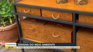 Morador de Nova Friburgo utiliza conceitos de sustentabilidade na própria casa - O repórter Felipe Basílio foi conferir.