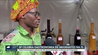 Festa no Museu da Imigração homenageia cultura de 48 nacionalidades - O Museu da Imigração, na Mooca, virou ponto de encontro de cozinheiros de várias partes do mundo. Além de comer, o público pode aprender um monte de receitas.