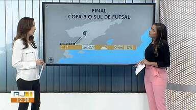 Tempo firme e céu aberto marca final da Copa Rio Sul em Volta Redonda - Sábado não tem previsão de chuva nas cidades do Sul do Rio. Parque Nacional do Itatiaia registrou geada na madrugada.