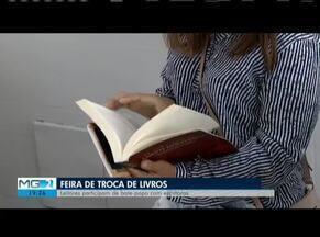 Feira de troca de livro é realizada no Sesc de Governador Valadares - Visitantes podem bater papo com escritores.