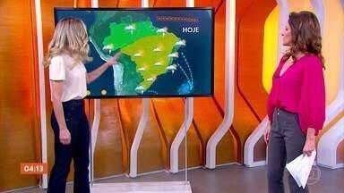 Tempo fica firme em boa parte do país; meteorologia prevê chuva no Espírito Santo - A previsão é de chuva fraca no sul gaúcho. Veja a previsão do tempo para todo o país.