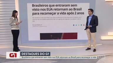 Brasileiros sem visto nos EUA retornam ao Brasil para recomeçar a vida após 2 anos - Eles venderam a casa que tinham aqui para se aventurar em solo americano e contaram ao G1 como foi usar tornozeleiras eletrônicas, lidar com agentes de imigração e se adaptar à vida no país.