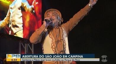 Veja como foi a abertura do São João 2019 de Campina Grande, no Parque do Povo - Fim de semana foi marcado por shows de Santanna, Flávio José, banda Calcinha Preta e Solange Almeida.
