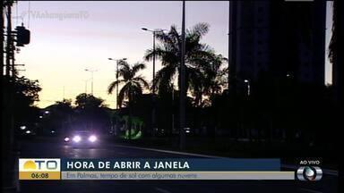 Imagens mostram amanhecer de Palmas; temperatura deve chegar aos 35 nesta segunda - Imagens mostram amanhecer de Palmas; temperatura deve chegar aos 35 nesta segunda