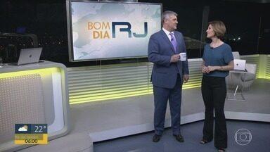 Bom Dia RJ - Edição de segunda-feira, 10/06/2019 - As primeiras notícias do Rio de Janeiro, apresentadas por Flávio Fachel, com prestação de serviço, boletins de trânsito e previsão do tempo.