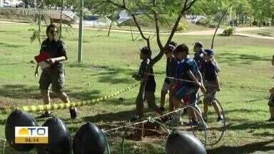 Escoteiros aprendem sobre a natureza e preservação do meio ambiente - Escoteiros aprendem sobre a natureza e preservação do meio ambiente