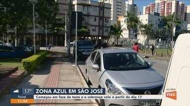 Estacionamento rotativo começa a funcionar nesta segunda-feira em São José - Estacionamento rotativo começa a funcionar nesta segunda-feira em São José