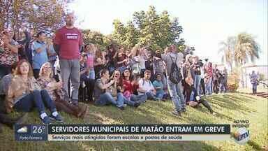 Servidores municipais entram em greve em Matão - Sindicato informou que a reivindicação é por reajuste salarial de 3,75 e aumento de R$ 100 no tíquete alimentação.