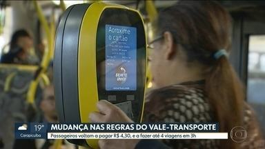 Prefeitura volta atrás nas regras do vale-transporte - Passageiros voltam a pagar R$ 4,30 e a fazer até quatro viagens no período de três horas.