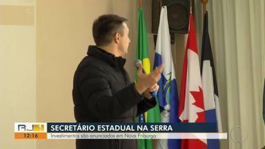 Investimentos são anunciados em Nova Friburgo, no RJ - Secretário Estadual de Educação visitou o município nesta segunda-feira (10).