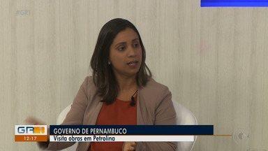Secretária de Infraestrutura e Recursos Hídricos do estado visita Petrolina - Ela veio conferir algumas obras do programa 'Caminhos de Pernambuco'.