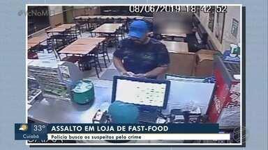 Assalto em loja de fast-food - Assalto em loja de fast-food.