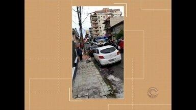 Supermercado é assaltado em Santa Maria - Quatro criminosos foram detidos na rua Tuiuti.