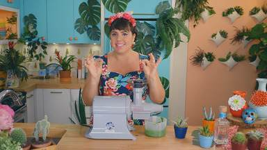 Bolinho de Tequila - Raíza mergulha no universo de cores, formas e sabores de Frida Kahlo. Ela ensina a fazer bolinhos de tequila com decorações de cacto, além de iogurte caseiro.