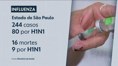 São Paulo é o estado onde há maior circulação do vírus influenza - Um milhão de pessoas foram aos postos de saúde tomar vacina em junho.